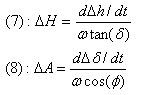 Modelización de los errores en Altura y Azimut, apuntando a una estrella con un ángulo horario de 6h/18h